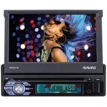 "DVD Automotivo Naveg NVS 3170 Tela LCD 7"" Retrátil - 60 Watts RMS Entradas USB SD e Auxiliar Frontal"