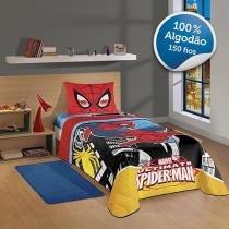 Edredom Infantil 150 Fios 1 Peça 100% Algodão - Lepper Marvel Ultimate Spider-Man