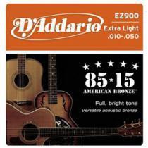 Encordoamento de Bronze 0.10 para Violão - D´Addario EZ 900 - 85/15
