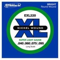 Encordoamento de Níquel 0.40 para Contrabaixo - D´Addario EXL 220