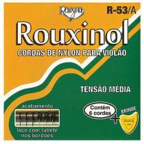 Encordoamento Nylon Preto Bordões Dourados Média R53A - Rouxinol - Rouxinol