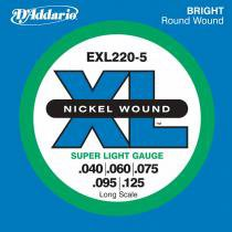 Encordoamento para Contra Baixo EXL220-5 Cordas - DAddario - DAddario