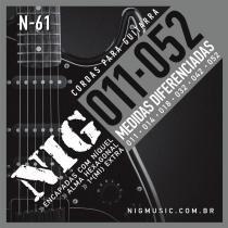 Encordoamento para Guitarra .011/.052 Tradicional N61 - NIG - NIG