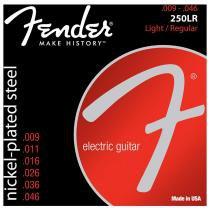 Encordoamento para Guitarra Aço 0.09 250LR Niquelado - Fender - Fender