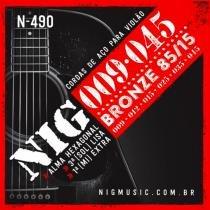 Encordoamento para Violão Terceira Corda Lisa N490 - NIG - NIG