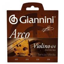 Encordoamento para Violino GEAVVA série Arco Aço Médio - Giannini - Giannini