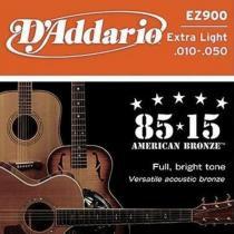 Encordoamento Violão Aço EZ900-B 6 Cordas Extra Light - DAddario - DAddario