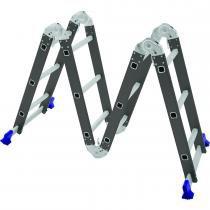 Escada Multifuncional Aço 4x3 12 Degraus 5135 - Mor - Mor