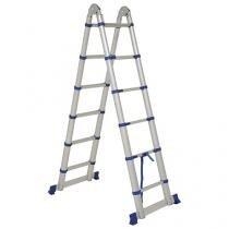 Escada Multifuncional Alumínio Extensível Mor - 12 Degraus Everest 5126