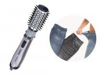 Escova Rotating Air Brush titanium + Lejeans (2 Unidades) - Jeans Preto + Jeans Azul - 110v - Conair