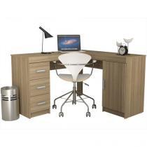 Escrivaninha/Mesa para Computador 1 Porta - 3 Gavetas - Politorno Bariloche