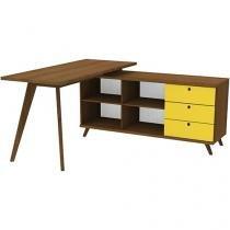 Escrivaninha/Mesa para Computador 3 Gavetas Madesa - GEO 6938F