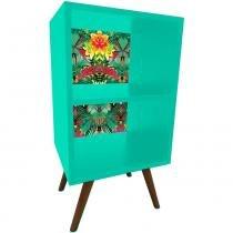 Estante 45 cm com Fundo Verde 0908 - Preto - Phorman