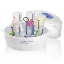 Esterilizador de Mamadeiras a Vapor para Microondas Clean  Dry - Multikids Baby - Multikids Baby