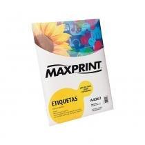 Etiqueta A4 Pimaco 100 Folhas em Adesivo Acrílico Maxprint 210x297 493531 - Maxprint