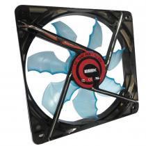 Fan para Gabinete 1500RPM Preto/Azul AF-F1225 - K-Mex - K-Mex