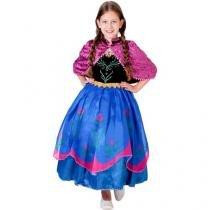 Fantasia Anna Luxo Frozen - Tamanho M - Rubie?s