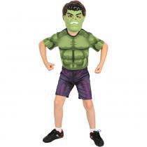 Fantasia Hulk Curta com Máscara - Rubies - M - Rubies