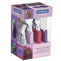 Faqueiro Carmel 16 Peças Degrade/Púrpura Inox 23499019 - Tramontina - Tramontina