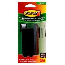 Fecho Command Grande Preto 3m - 3M