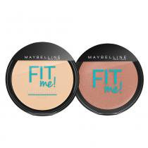 Fit Me! Maybelline - Pó Compacto + Blush para Peles Claras - Maybelline