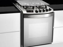 Fogão 4 Bocas Brastemp Ative Maxi de Embutir Inox - Grill Timer Acendimento Automático