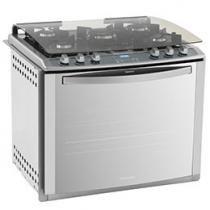Fogão 5 Bocas Electrolux Blue Touch Nutri Vapor - de Embutir Inox Grill Tripla-Chama Timer