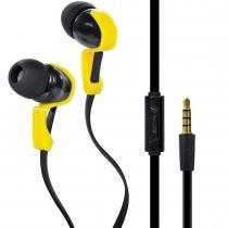 Fone de Ouvido com Microfone VBASS V6 Preto/Amarelo - Vinik - Vinik