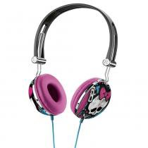 Fone de Ouvido Multilaser com Microfone Monster High Multilaser P2 - PH100 - Multikids