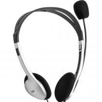 Fone Headset GO Work HM10 com Microfone Preto/Prata - Vinik - Preto - Vinik