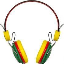 Fone Headset para Celular com Microfone Rash Rasta - Vinik - Amarelo - Vinik