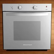 Forno de Embutir a Gás Brastemp Clean BOA61ARRNA - Inox 77L Grill Timer