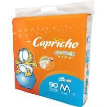 Fraldas Capricho Garfield Baby Tam M 90 Unidades - Indicador de Umidade e Tecnologia Respirável