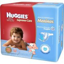 Fraldas Huggies Turma da Mônica - Supreme Care Meninos Tam XG 52 Unidades