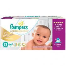Fraldas Pampers Premium Care Hiper Tam G - 60 Unidades
