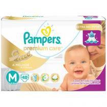 Fraldas Pampers Premium Care Tam M - 48 Unidades
