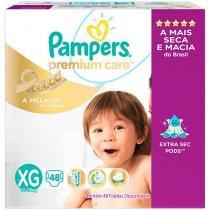 Fraldas Pampers Premium Care Tam XG - 48 Unidades