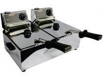 Fritadeira Elétrica 5L Inox Turbo - Cotherm Duas Cubas