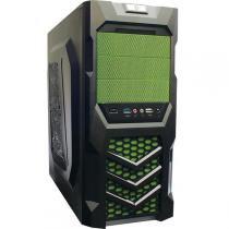 Gabinete Gamer ATX/Micro-ATX Ferox Preto/Verde 622735 - Dazz - Dazz