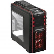Gabinete MID-Tower Pegasus Hot-Swap LED Vermelho PEGASUSPTOAZ3FCA - Pcyes - Pcyes