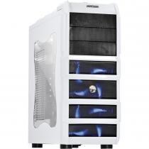 Gabinete MID-Tower Rhino 3 Fan LED Azul Branco RHINOBCOAZ3FCA - Pcyes - Pcyes