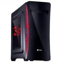 Gabinete Mid-Tower VX Gaming Cyclone V2 Preto LED Vermelho - Vinik - Vinik