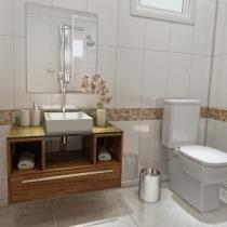 Gabinete para Banheiro com Cuba e Espelho 1 Gaveta - VTec Cetus