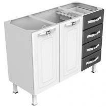 Gabinete para Cozinha 2 Portas 4 Gavetas - Colormaq Lux