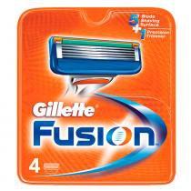 Gillette Fusion - Lâmina de Barbear - 4 Unidades - Gillette