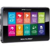 "GPS Automotivo Multilaser Tracker III Tela 4.3"" - Touch 2.500 Cidades Navegáveis"