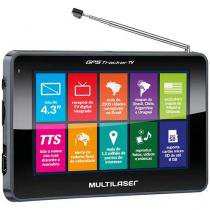 "GPS Automotivo Multilaser Tracker III Tela 4.3"" - Touch TV Digital 2.500 Cidades Navegáveis"