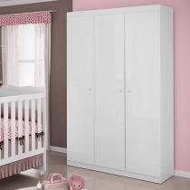 Guarda-Roupa Bebê 3 Portas 1 Gavetas - Móveis Estrela Ninar
