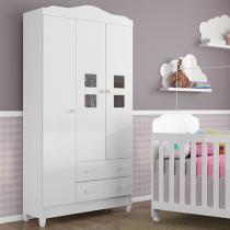 Guarda-roupa Bebê 3 Portas 2 Gavetas - Carolina Baby Carol