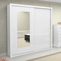 Guarda-Roupa Casal 2 Portas de Correr com Espelho - 2 Gavetas - Demóbile Dubai
